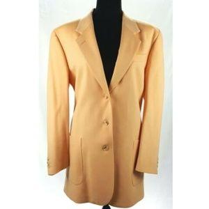 Burberrys Yellow Wool Jacket Blazer Women's 12